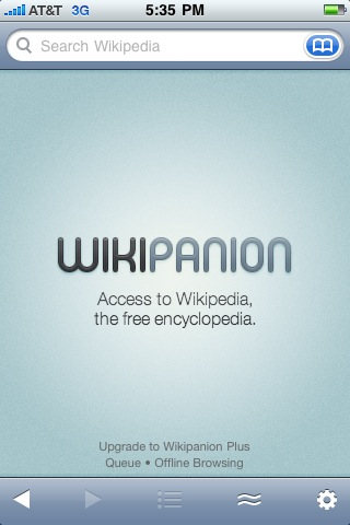 wikipanion iphone app