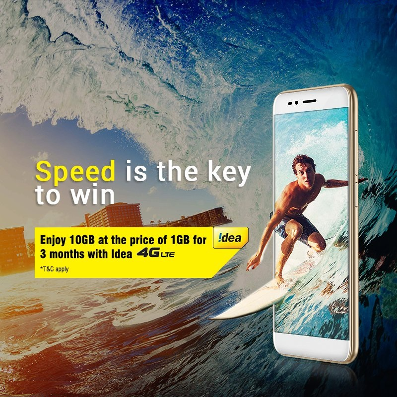 Idea with 10 GB free data offer in the 4G launch at Mumbai.